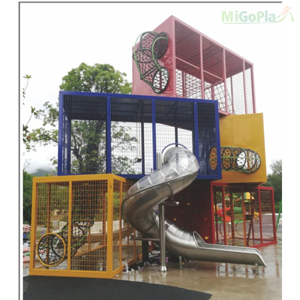 Non-standard playground equipment-container theme
